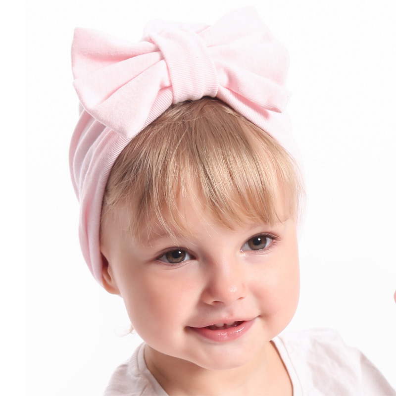 f3e8c97023f New Winter Baby Hat for Girls Big Bow Autumn Turban Baby Cap Photography  Props Infant Beanie Baby Girl Hat Accessories 11 Colors