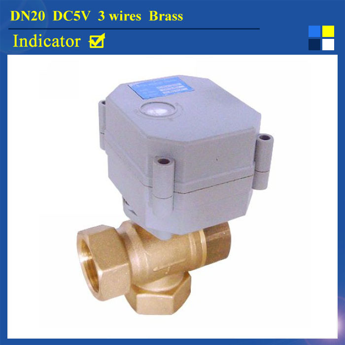 3/4'' DC5V 3 wires brass 3 way T type automatic control valve with indicator for water heating solar water heater T20-B3-C кукла марита в голубом плач 42 см antonio juan munecas