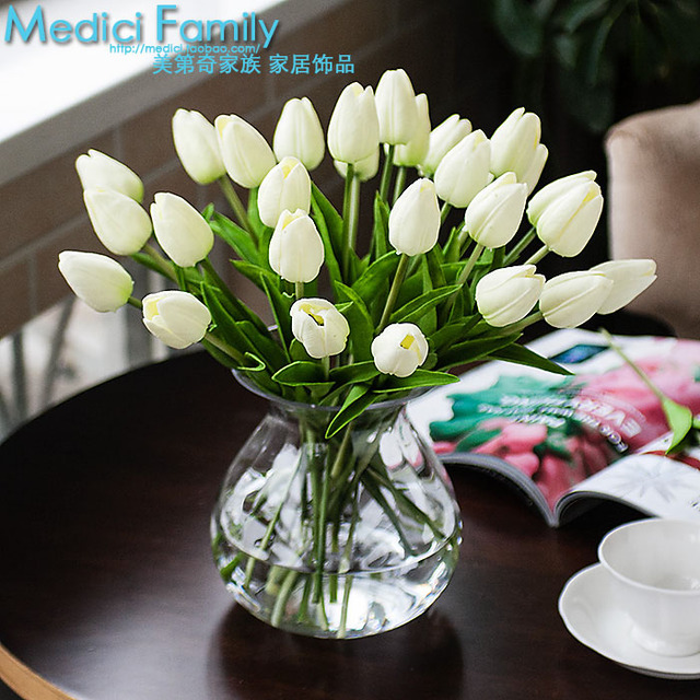 941 Artificial Flower Finished Product Bowyer Dining Table Silk Flower PU  Mini Small Water Bottle Vase