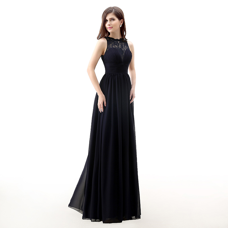 Forevergracedress 2017 Μαύρο φόρεμα μακρύ - Φορεματα για γαμο - Φωτογραφία 3