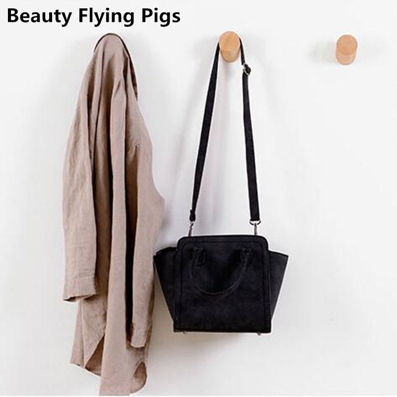 Solid Wood Coat Hook Brief Modern Wall Decoration Clothes