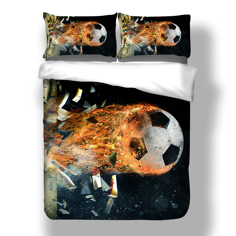 fans world cup 3D football soccer design twin king queen double bedclothes duvet cover set bedding set