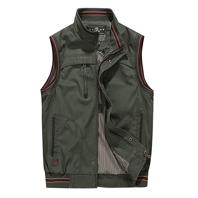 100% Cotton Denim New 2016 Autumn Spring Men Vest Casual Military Waistcoat Jacket Vests Brand Big Size L-4XL