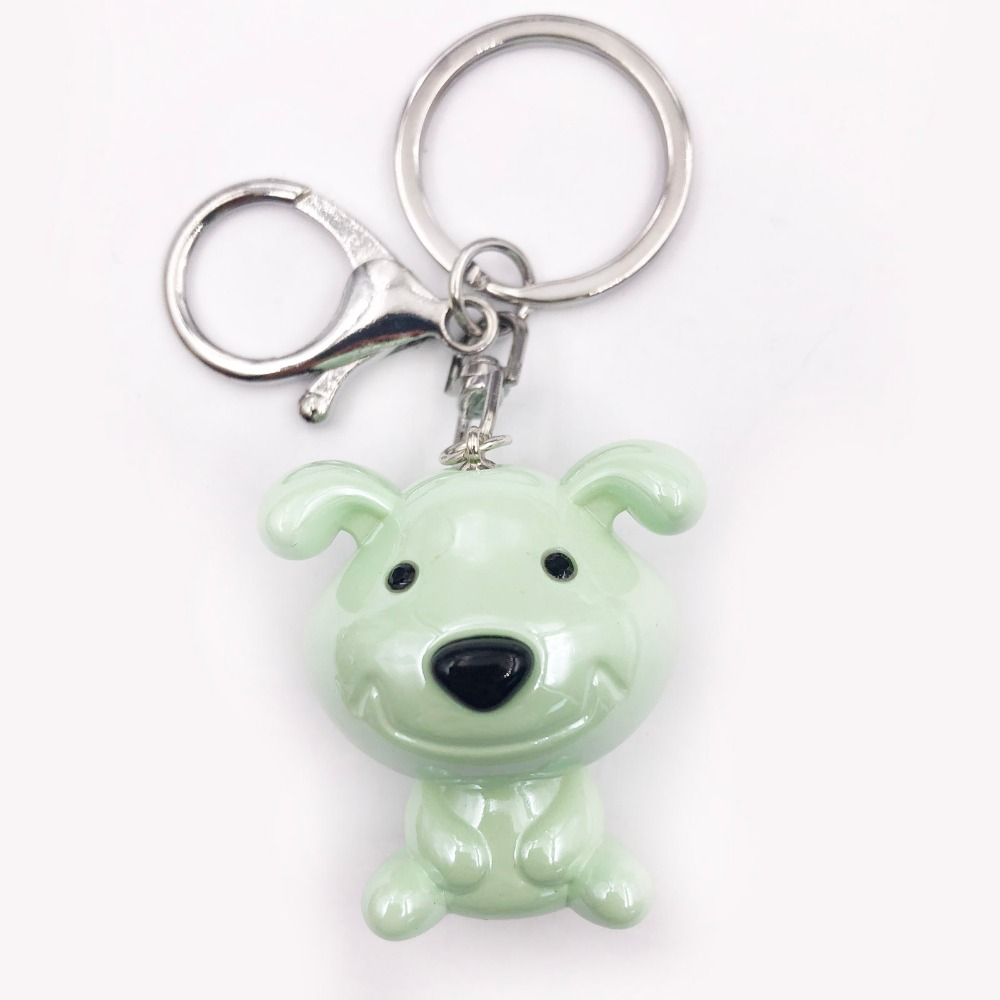 Cute Transparent Resin Smile Dog Colorful Ball keychain Chains for girls gift accessories jewelry Acrylic Accessory Keychain in Key Chains from Jewelry Accessories