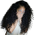 Deep Curly Lace Front Human Hair Wigs With Bangs 250% Density Brazilian Bob Lace Frontal Wig Pre Plucked Full Dolago Short Remy