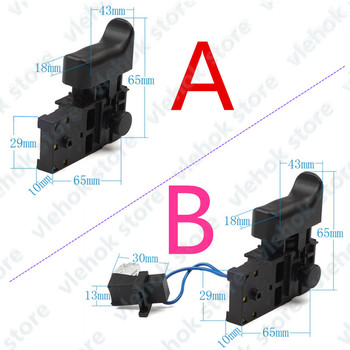 Switch With LED 650588-6 replace for MAKITA DS4010 HR2470T HR2470CAP HR2470A HR2470 HR2460 HR2230 HR2470FT HR2230DFX tools part фото