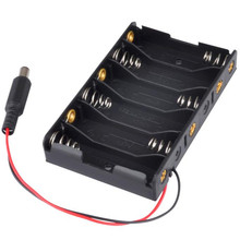150pcs/lot MasterFire 9V 6 Slots AA Battery Case Cover Storage Box Holder For X With DC 2.1 Power Jack Arduino