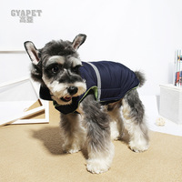 High Second Fashion Vest Clothes Autumn Winter Kitty Clothing Teddy Dog Clothes Winter Clothes Thickening Cotton padded Clothes