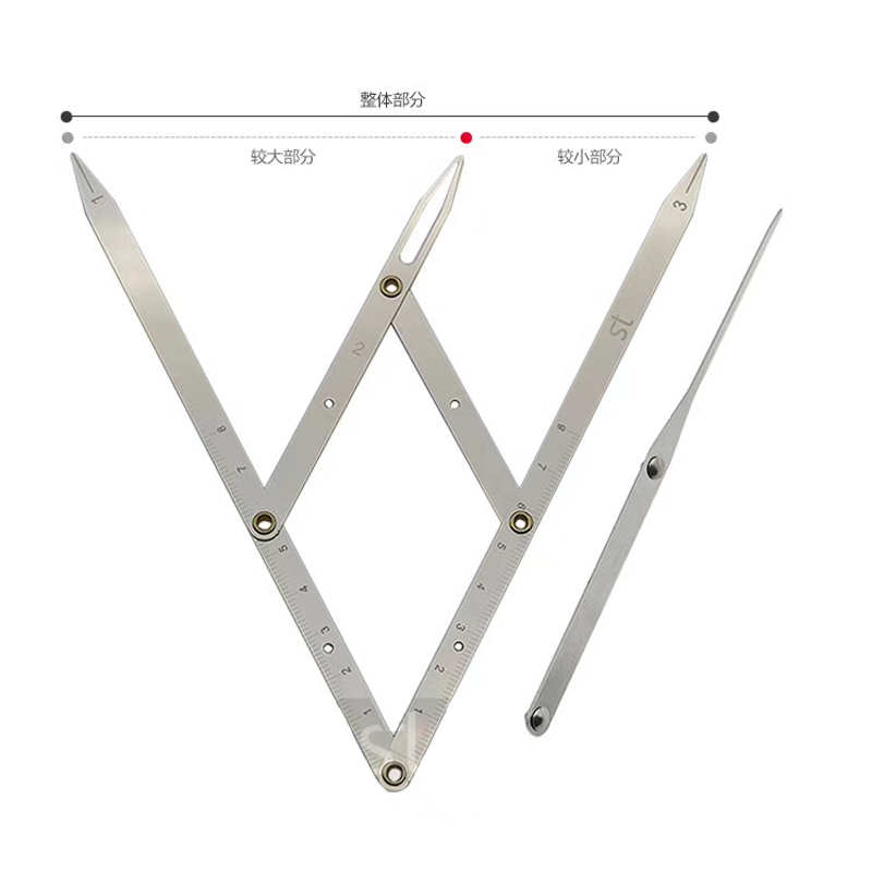 1pcs Stainless Steel Golden Ratio CALIPERS Eyebrow Microblading Permanent Makeup Measure Tool Mean Golden Eyebrow DIVIDER No Box