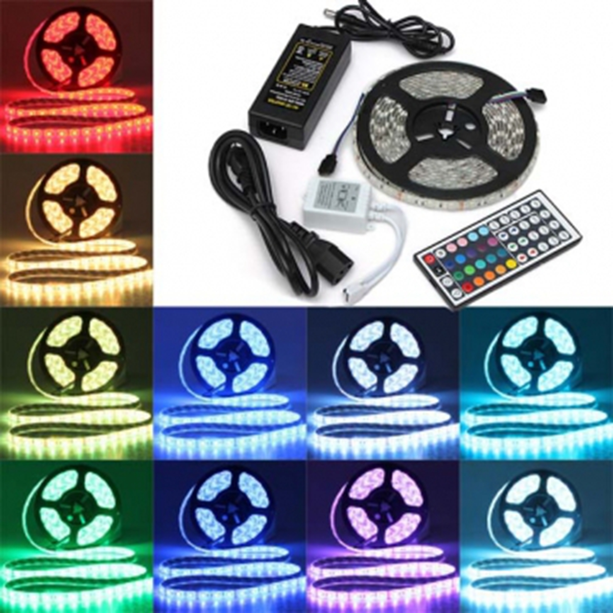 5M 5050 300 SMD IP65 Waterproof Flexible LED Strip Light and IR Remote Controller +12V 5A Power Adapter Kit Christmas Decoration замок двери задка газель next фургон