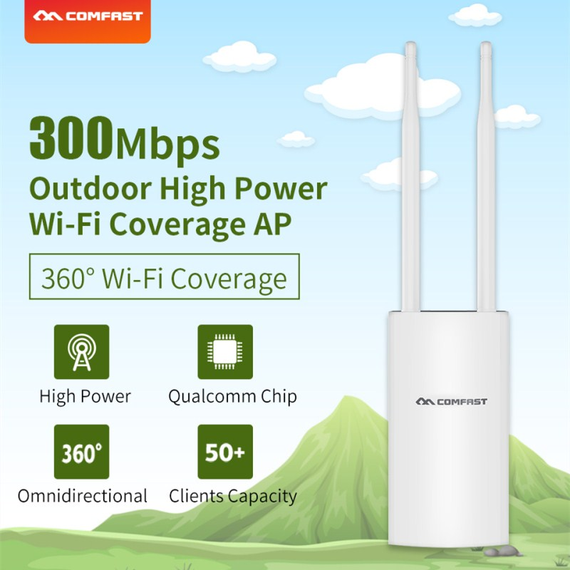 Comfast CF-EW71 300Mbps High Power Outdoor AP Wifi Router 360 Degree Coverage Access Point Wifi Base Station With Dual Antennas