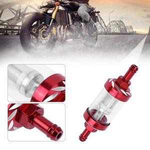 Image 4 - 8mm cnc filtros de óleo combustível gás acessórios da motocicleta filtro combustível para atv sujeira pit bike motor automóvel filtro dos sons aceit