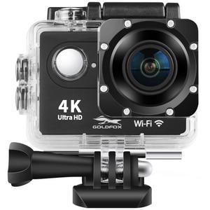 "Image 1 - H9R عمل كاميرا كامل HD 4K 25FPS واي فاي 2.0 ""شاشة كاميرا خوذة صغيرة مع جهاز التحكم عن بعد الذهاب مقاوم للماء برو الرياضة كاميرا الفيديو الرقمية"