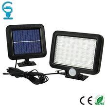 Gitex 56 LED พลังงานแสงอาทิตย์กลางแจ้งสวนพลังงานแสงอาทิตย์ไฟสนามหญ้า PIR Motion Sensor โคมไฟติดผนังกันน้ำเซ็นเซอร์อินฟราเรดแสง