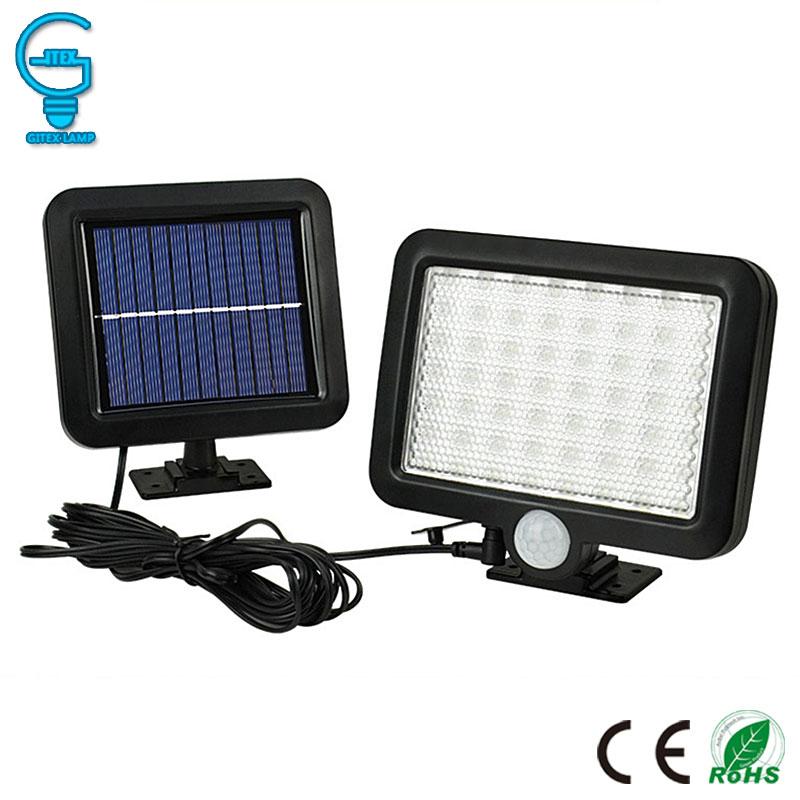 Gitex 56 LED Solar Light Outdoor Solar Powered Garden Lawn Light PIR Motion Sensor Wall Lamp Waterproof Infrared Sensor Light