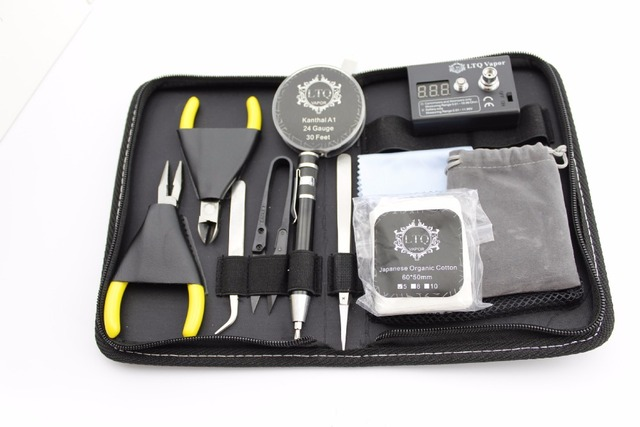 1 Set Complete Kit DIY Master Tool Coil Winder Ceramics Tweezer  Atomizer Coil Rs Tester 10pcs/set FYF16