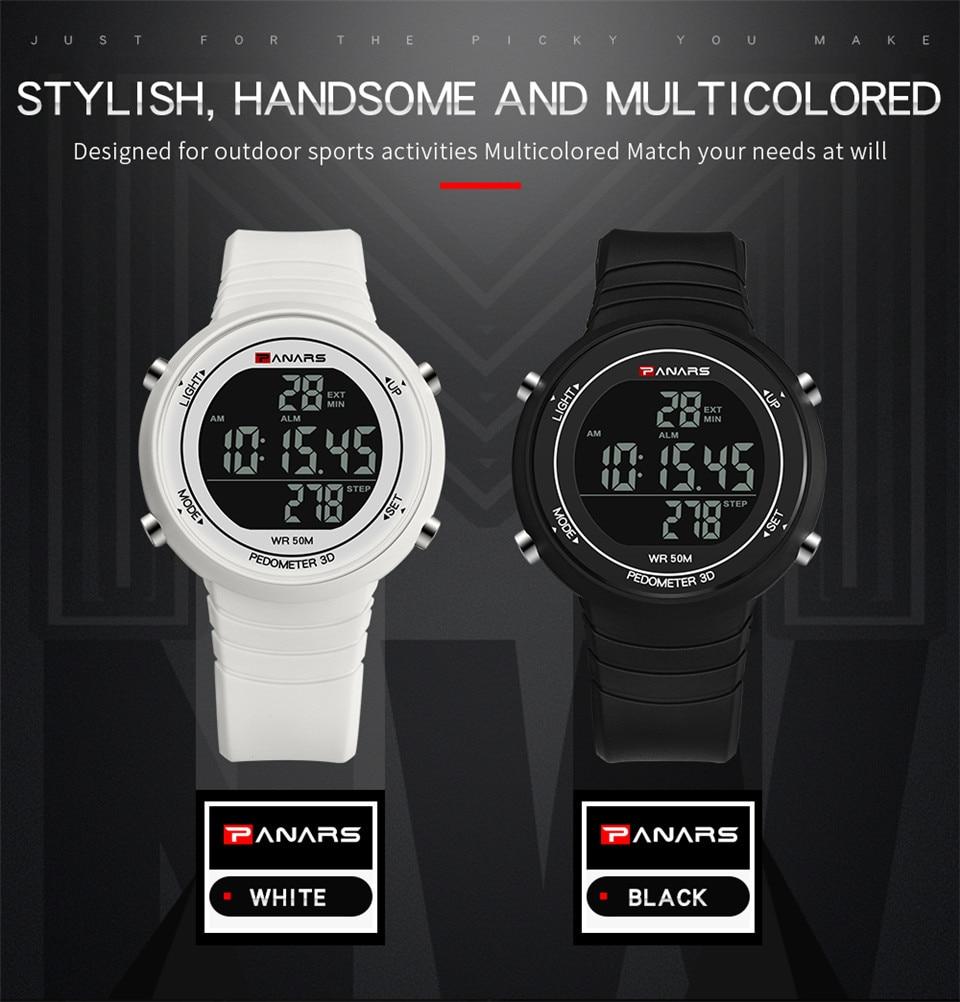 Pedometer Watch Clock Woman Waterproof 50M Outdoor Digital Sports Watch Women Simple Small Bracelet Hand Wrist Watches Hour gift (4)