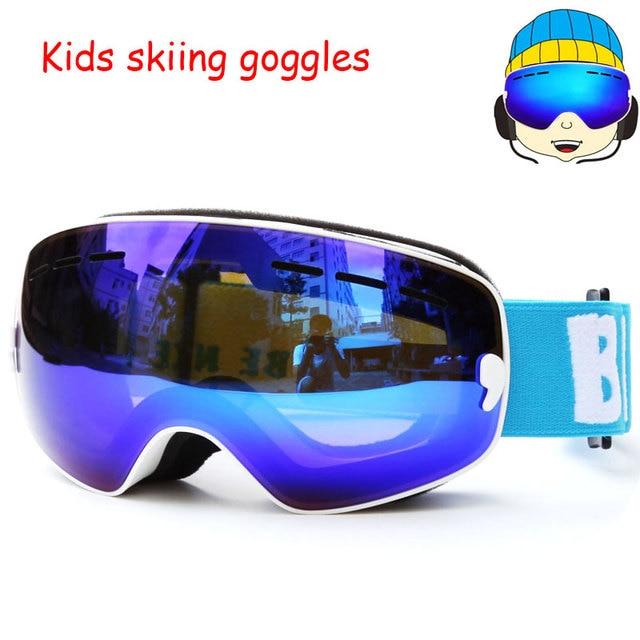 23188ddcf8 Chico gafas de esquí UV400 Anti-niebla Snowboard gafas lente doble esquí  nieve gafas de. Sitúa el cursor encima para ...