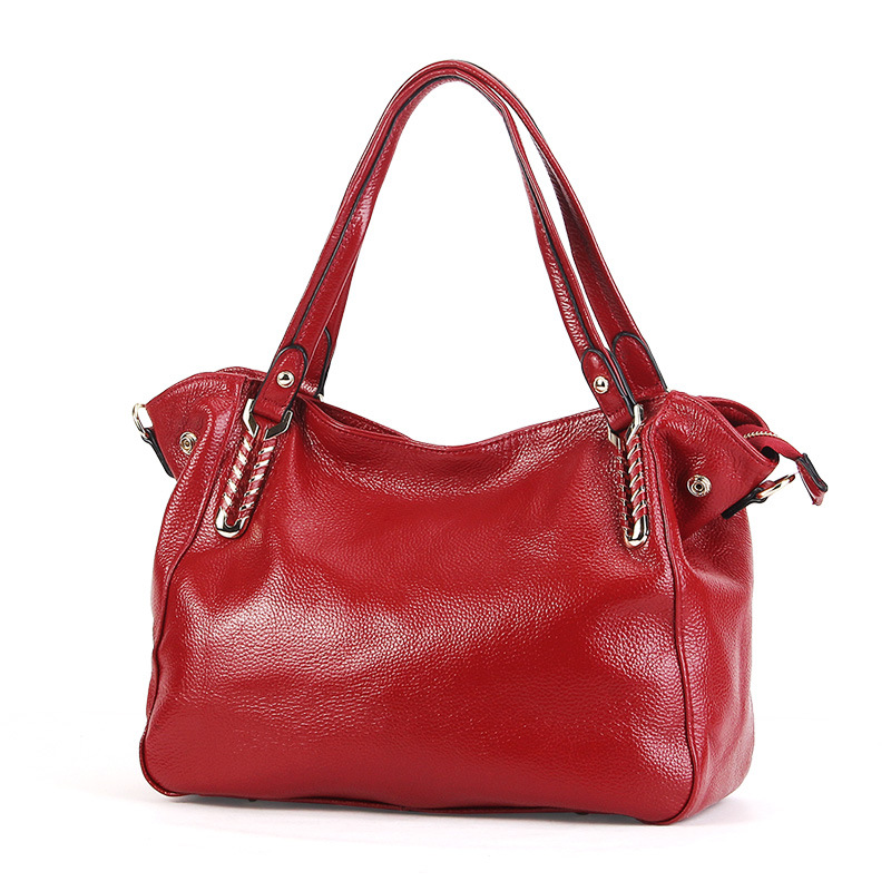 2018 New Women Genuine Leather Bags for Women Luxury Handbags Women Bags Designer Brand Famous Messenger Bag Fashion Tote rockcow 2017 new top grain leather tote bag for women leather luxury handbags women messenger bags