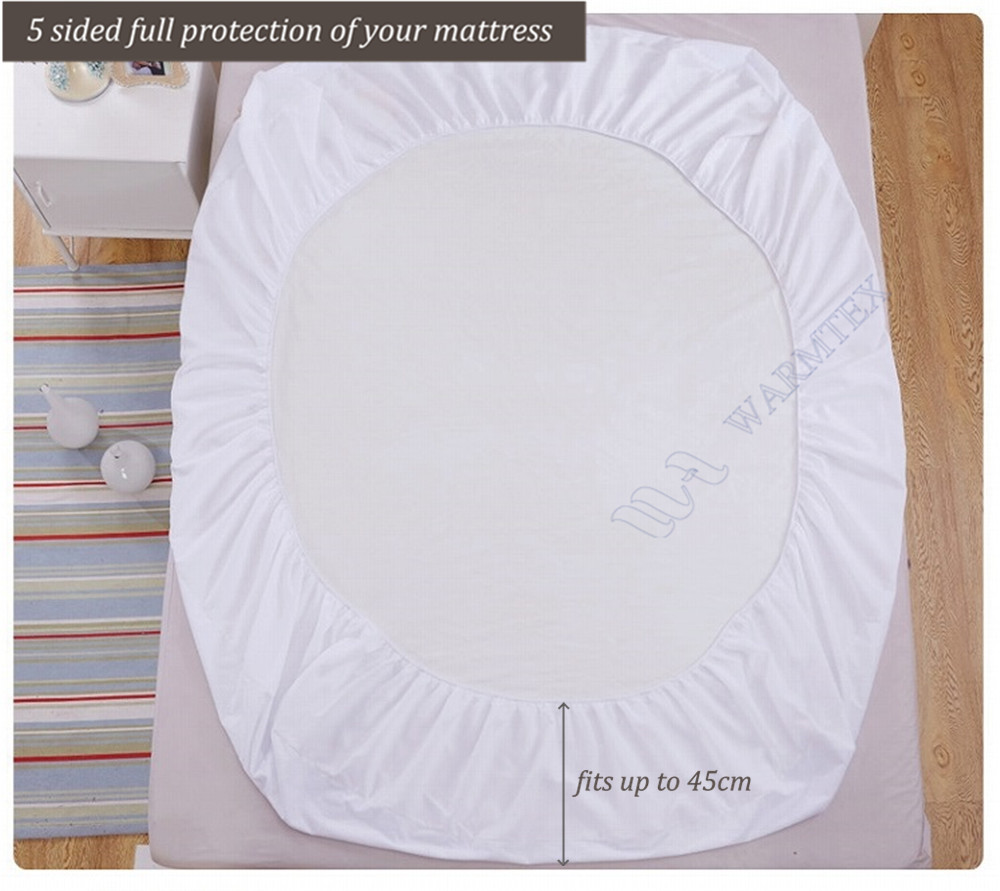 full size 1.35m bed 135x200cm waterproof Smooth Knit mattress protector Mattress Cover 100% Waterproof of TPU W002 A