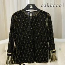 Cakucool/женская блузка с пайетками, топы, прозрачный сексуальный о-вырез, сетчатая блузка, блузка с длинными рукавами, украшенная бисером, женская модная блуза, топ