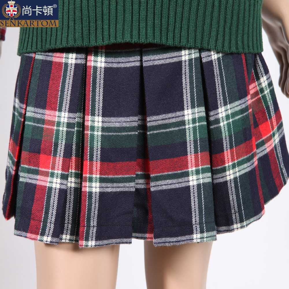 Plaid School Uniform Skirts - Skirts