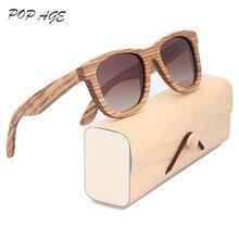 Classic Sunglasses Mens Brand Designer Eyewear Gafas Sunglass UV400 Polarized Driving Sun Glasses Vintage Wood Glasses Frame Men