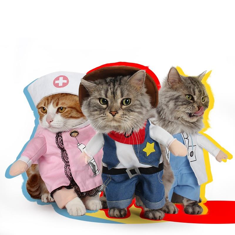 Funny Dog Clothes Christmas Pet Costume Policeman Nurse Suit Clothing For Cat Halloween Costume Kitten Puppy Uniform Hat Suit  sc 1 st  Pet Home Pet & Funny Dog Clothes Christmas Pet Costume Policeman Nurse Suit ...