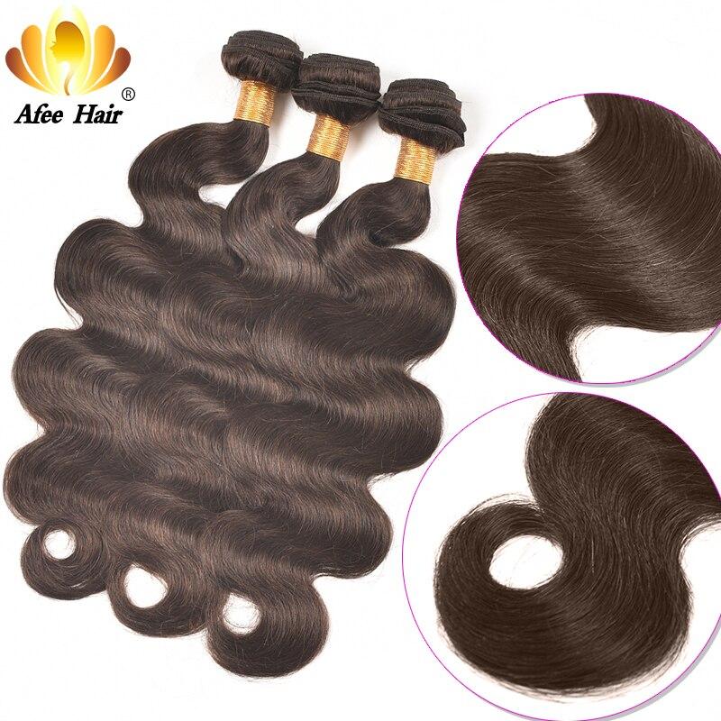 AliAfee Hårbrasilianska Body Wave Hair Weave Bundles 3 PC Deal Non - Mänskligt hår (svart) - Foto 2