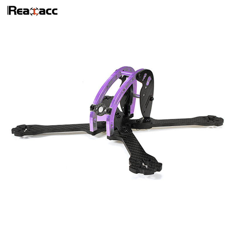 Original Realacc D215 215mm Purple Edition Carbon Fiber 4mm Arm X Type Frame Kir 5V 12V PDB Board For RC Toys Multicopter Motor