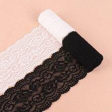 2 jardas 10cm branco preto largo elástico laço tecido guarnição fitas embelezamento artesanal costura pano faixa de cabelo arco diy acessórios