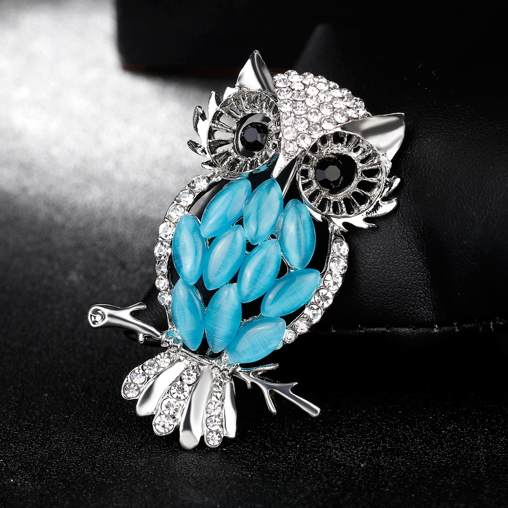 3 Piece broche de marie or Fashion Women Big Size owl Crystal Brooch ...