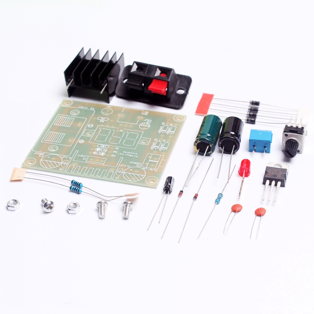 2016 Electronic Kit Circuit Board Diy Lm317 Adjustable Regulated Variable Power Supply Voltage Step Down Suite Module In Integrated Circuits From