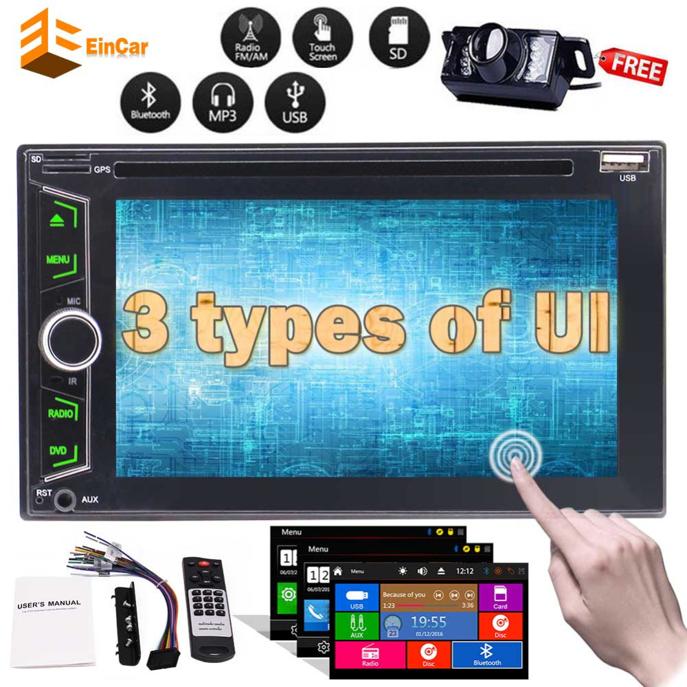 In Dash Double Din Car Stereo Autoradio Headunit Illuminating Light Button Car DVD CD Player RDS Radio Bluetooth+Rear CameraIn Dash Double Din Car Stereo Autoradio Headunit Illuminating Light Button Car DVD CD Player RDS Radio Bluetooth+Rear Camera