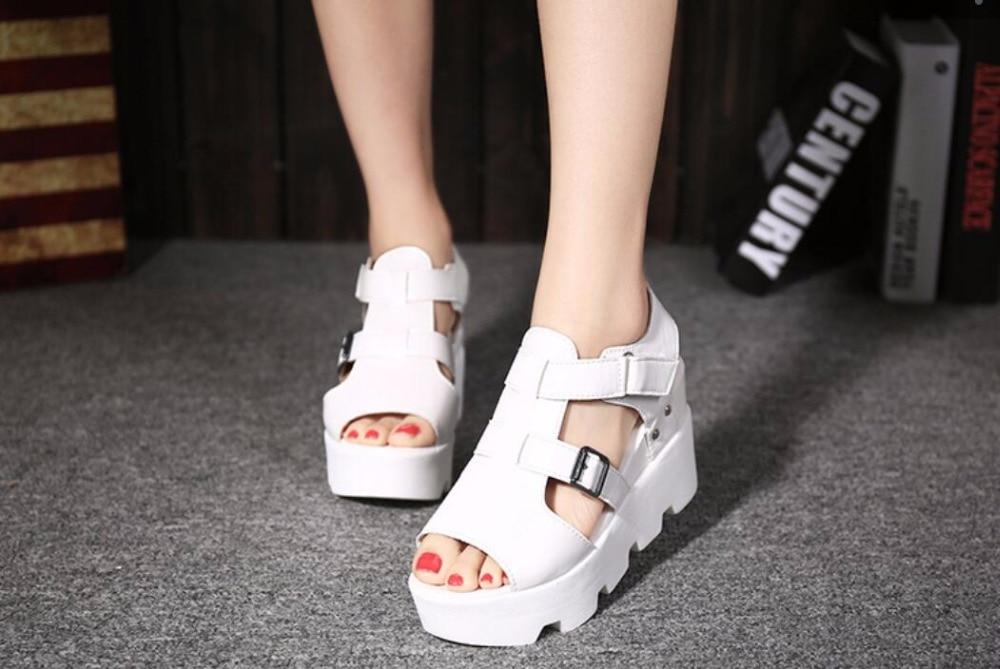 HTB1f6vqj41YBuNjy1zcq6zNcXXaa 2019 Summer Sandals Shoes Women High Heel Casual Shoes footwear flip flops Open Toe Platform Gladiator Sandals Women Shoes m693