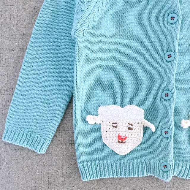 314ebd6ec Online Shop Special Price Baby Girls Sky Blue Knitted Cotton Sweater ...