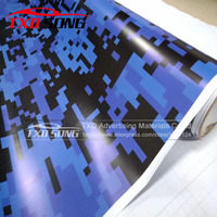 Blue Digital Military Camo Vinyl Film Air Bubble Free Motorcycle Car Adhesive Sticker Pixel Camouflage Vinyl Wrap Foil
