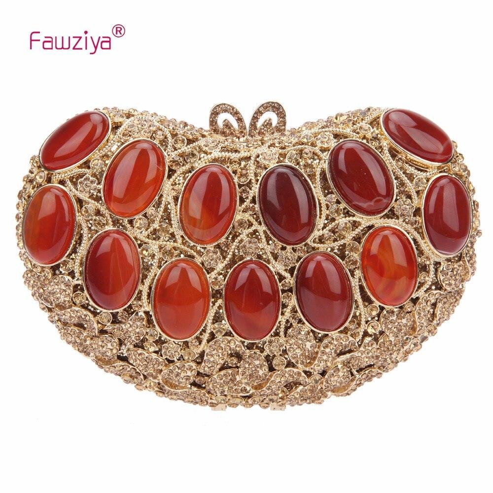 Здесь продается  Fawziya Brand Shoulder Bag Carnelian Stone Handbags For Women Evening Clutch Bags  Камера и Сумки