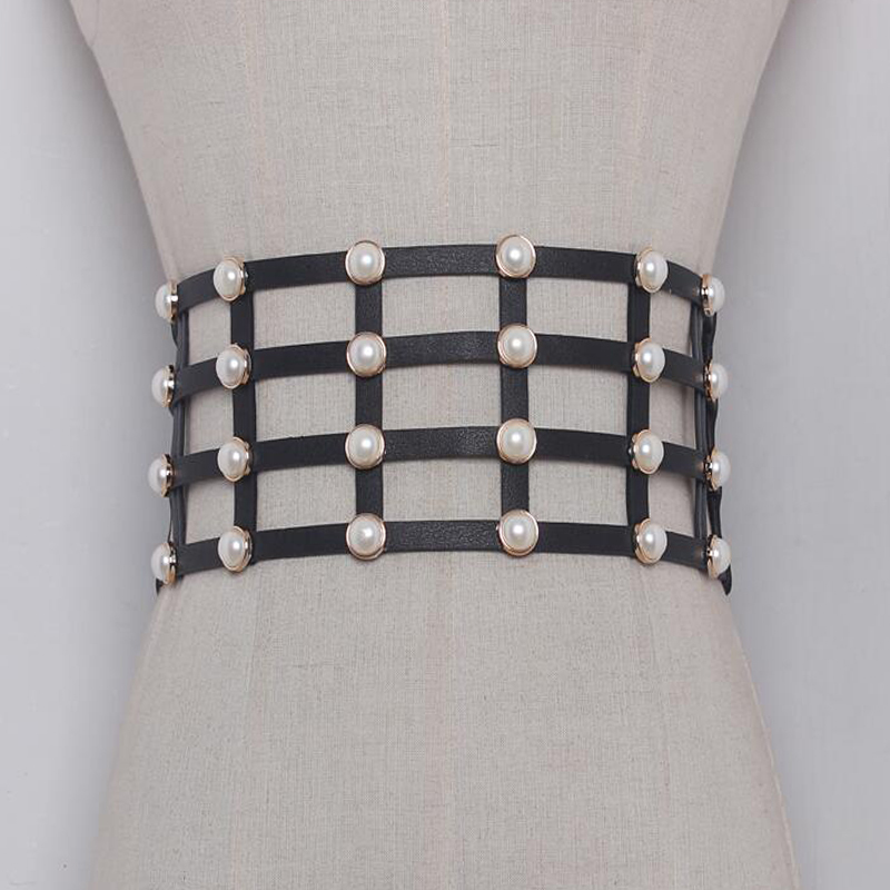 2019 European Design Ladies Classic Check Wide Corset Belts Waist Band For Women High Elastic Shirt Dress Belts Cummerbund Strap For Sale Apparel Accessories