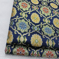 CF410 1Yard Dark Blue Purl Brocade Jacquard Fabric Chinese Style Fabrics For Home Decoration Pillow Cover DIY Fabrics For Sewing