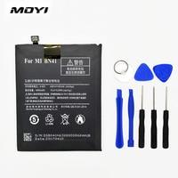 MOYI BN41 For Xiaomi Redmi Note 4 Hongmi Note4 4100mAh Mobile Phone Batteries Tool