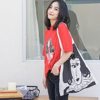 2018 Eco Friendly Shopping Bags Travel Custom Reusable Girls Handbag Women Shoulder Cloth Pouch Foldable Grocery