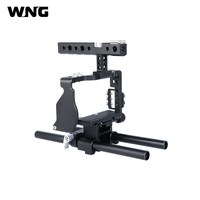Video Cage Rig Kit Film Making System with 15mm Rod for Sony A6000 A6300 A6500 Camera