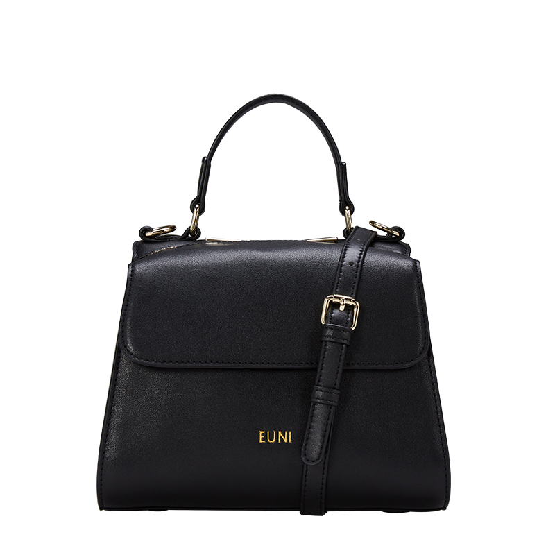 EUNI Brand Luxury Design Cowhide Leather Women Shoulder Bag Crossbody Bags For Women High Quality Zipper Tote Lady Leather Bag xiyuan brand fashion red black brown color women girls zipper embroidered shoulder bag leather crossbody bags luxury for lady