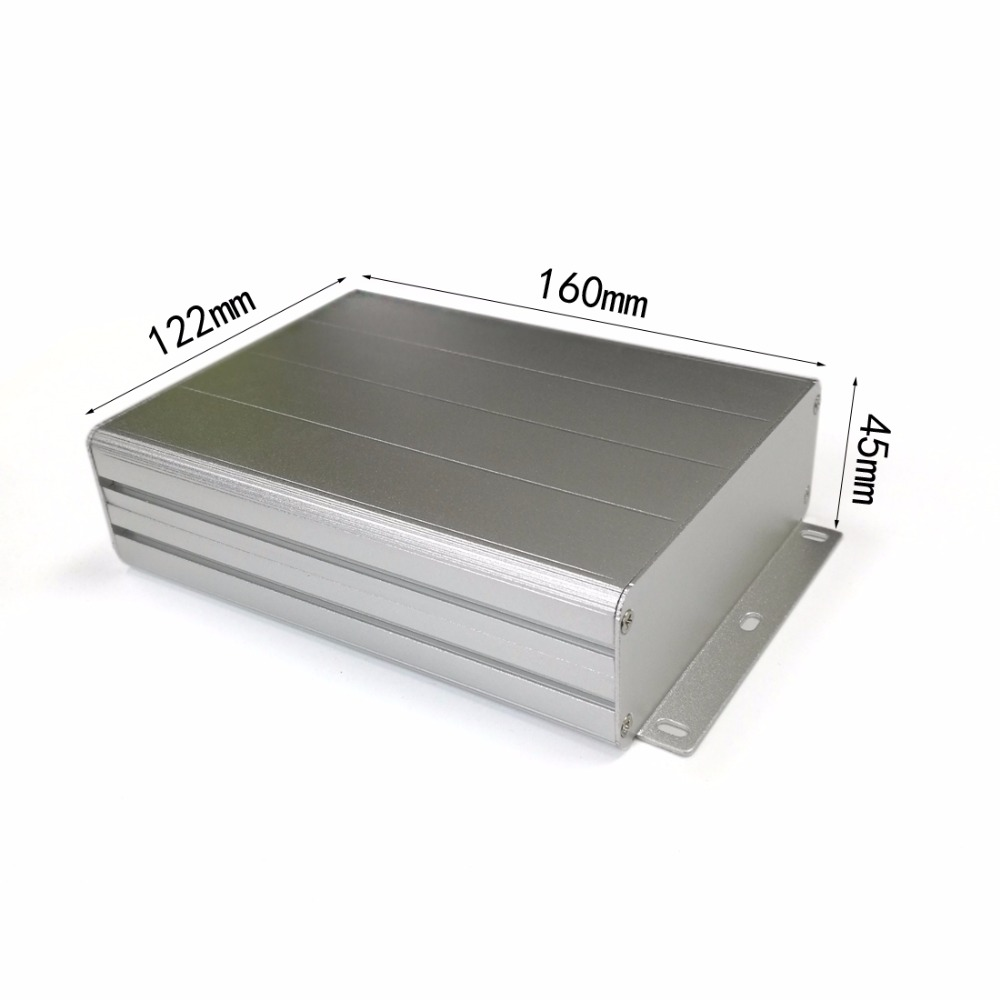 Aluminum enclosure project electric PCB box splitted case 122X45X160mm DIY NEW Electronics Enclosure wall mounting boxes 2pcs aluminum enclosure electronics box splitted pcb instrument project box shell 145x54x200mm diy new