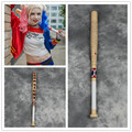 Harley Quinn Baseball Bat with tape Suicide Squad Solid Wood Bat Halloween Cosplay Long Bat Free Shipping