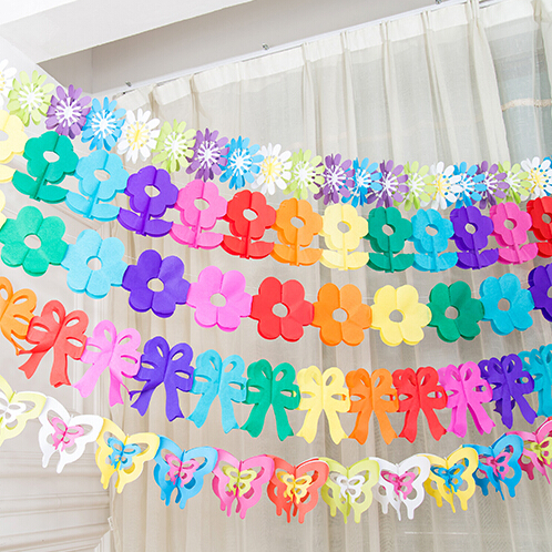 Zilue 5st / lot Home Garden dekorationspapper krans Födelsedagsfest blommor Barn dag leverantörer bröllopsdekoration