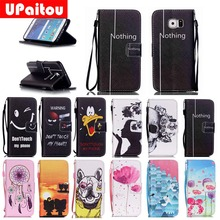 UPaitou Cartoon Leather Case for Samsung Galaxy S3 S4 S5 mini S6 Edge Plus Grand Core Prime G530 G360 Flip Wallet Case Cover