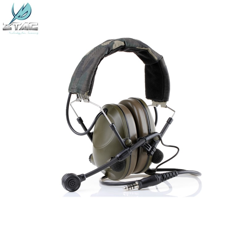 Z-TAC Neckband Headset Sound-Trap Headset Military Aviation Headset   Z042