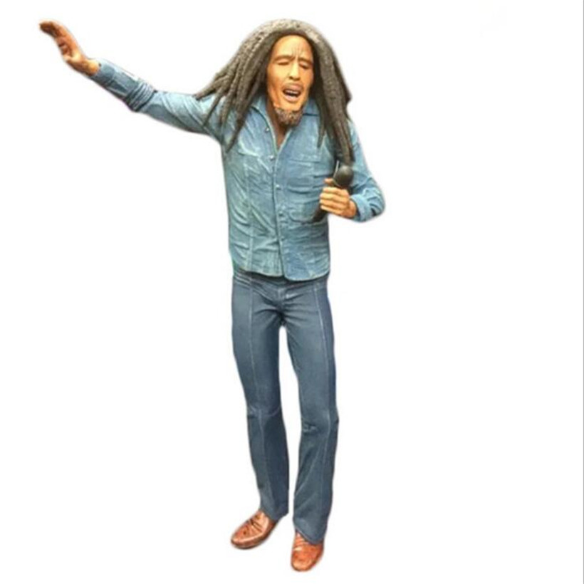 18 CM Simulation NECA Reggae Originator Bob Marley ABS Dolls Model Toys Anime Action Figure Model Juguetes Kids Toys Gifts jamaican rasta hat bob marley hat jameican hat tams fancy dress costumes crochet rasta beanies gorro bob marley cap rh 18